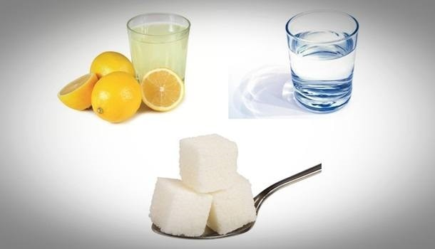 sugar lemon juice water