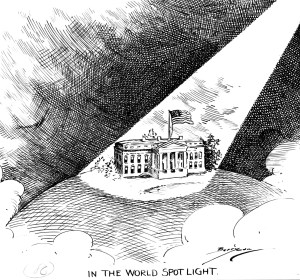 The White House in a spotlight