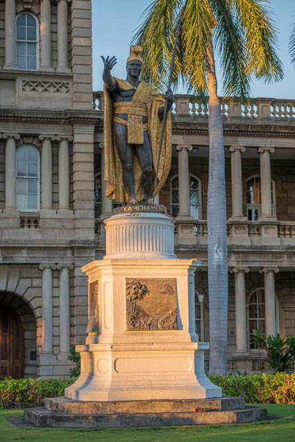fokopoint-9411 King Kamehameha Statue at Ali'iolani hale