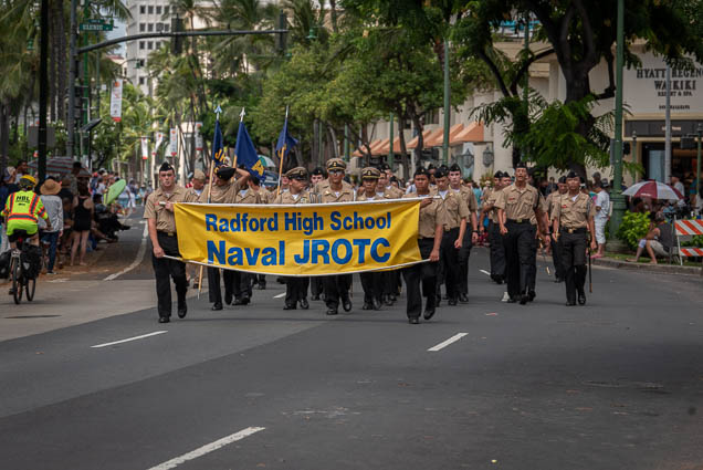 radford-high-school-naval-jrotc-floral-parade-2019-aloha-festivals-fokopoint-honolulu-9954 73rd Annual Floral Parade
