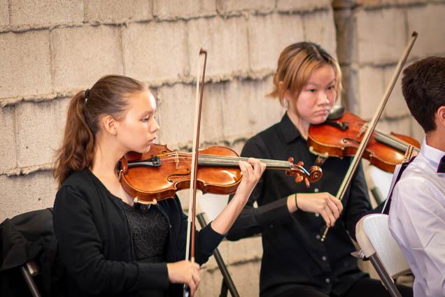 violins-hawaii-youth-symphony-salt-kakaako-fokopoint-1349 Hawaii Youth Symphony at Salt Kaka'ako