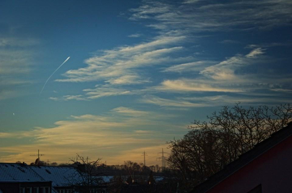 Winterliches Wolkenbild