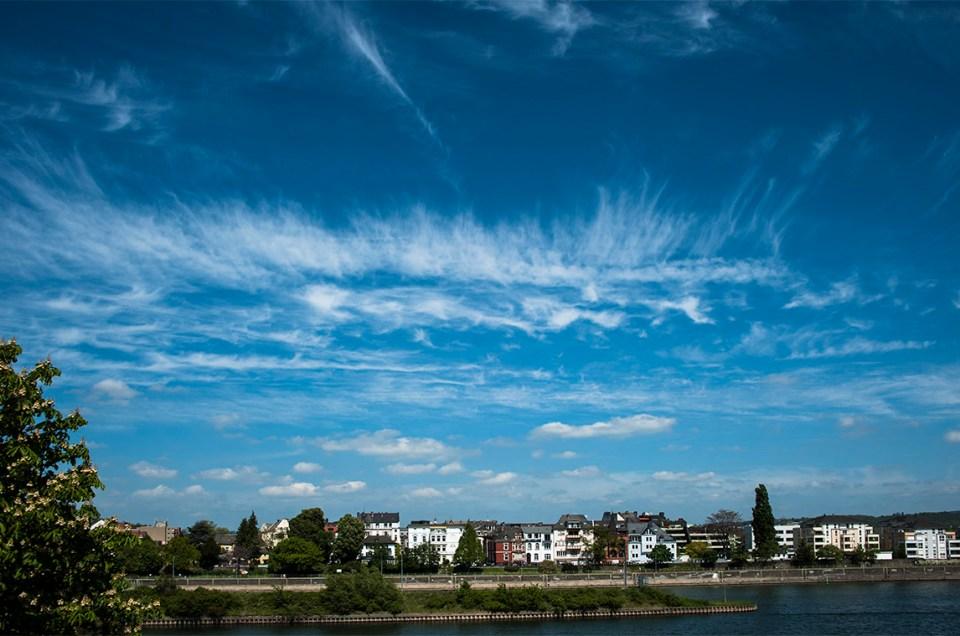 Mai 2017: Wolkenbilder über der Stadt