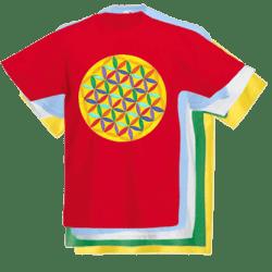 Floarea Vietii imprimata pe tricouri de copii