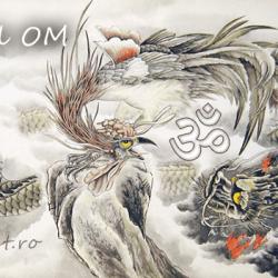 Simbolul Om - dragonul si pasarea phoenix