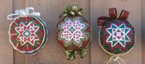 Folded Star Ornaments Row of Three