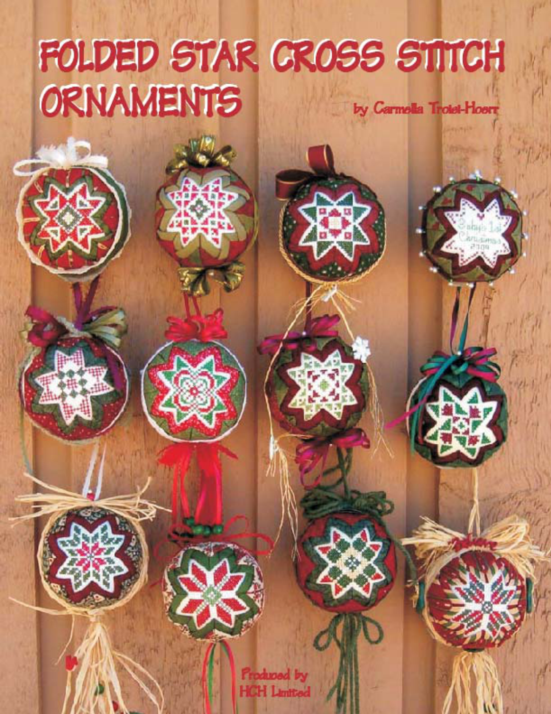 Folded Star Ornaments Book Front Cover