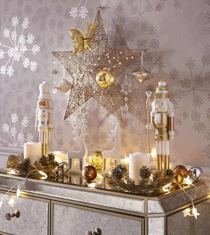 gold_Star_Christmas_Decoration_Set EVOKE.IE