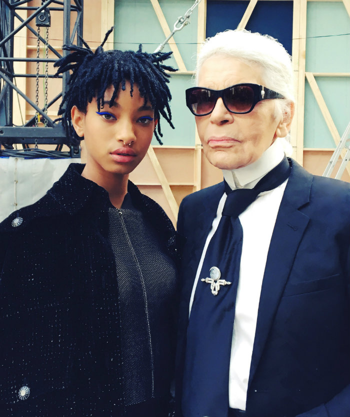 Karl Lagerfeld and Willow Smith