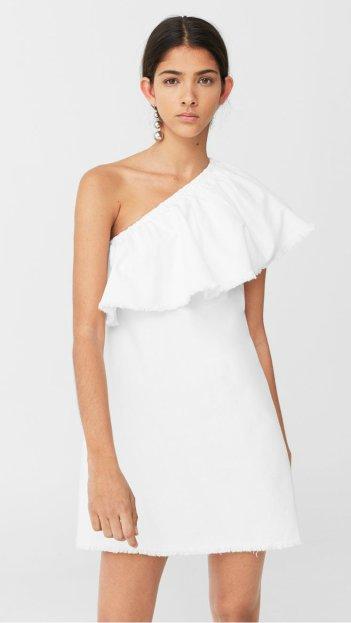 Asymmetric denim dress mng 4490