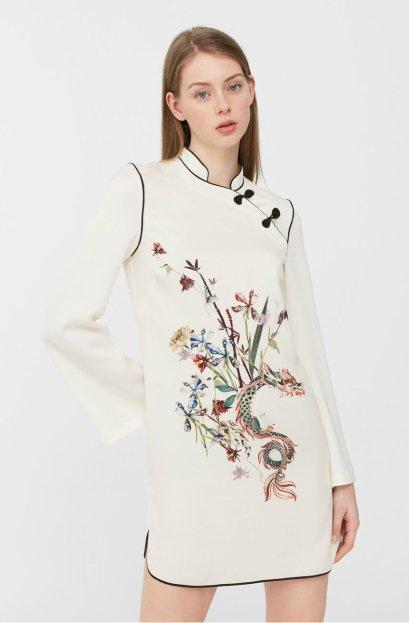mng Oriental print dress 5990