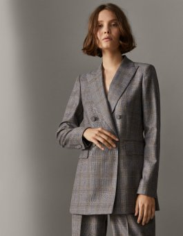 DOUBLE-BREASTED CHECKED SUIT BLAZER md 17990
