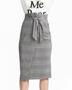 hm Dogtooth-patterned skirt 3199