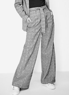 strd Checked palazzo trousers 3790