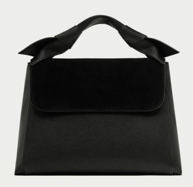 zara CITY BAG WITH KNOTS AND LEATHER DETAIL 3990