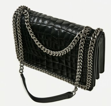 zara CROSSBODY BAG WITH EMBOSSED CHAIN 9900