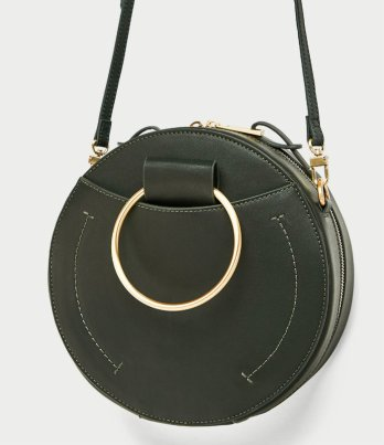zara ROUND CROSSBODY BAG WITH METAL HANDLES 3990