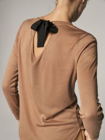 md SWEATER WITH CONTRASTING BOW 4990