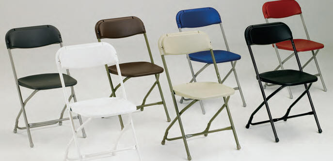WHOLESALE Folding Poly Chairs, White Plastic Chairs