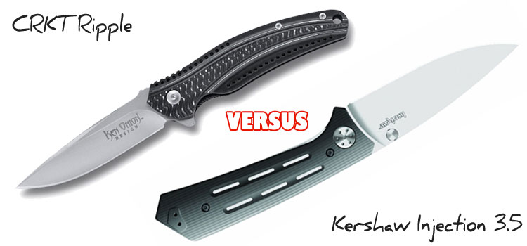 CRKT Ripple Aluminum vs. Kershaw Injection