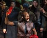 Maurice Jones as Mark Antony in Julius Caesar. Photo by Jeff Malet.