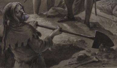 The Gravedigger by artist F. O. C. Darley, 1884.