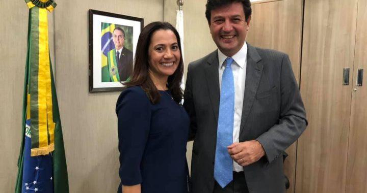 Senadora Mailza e Ministro da Saúde Luiz Henrique Mandetta