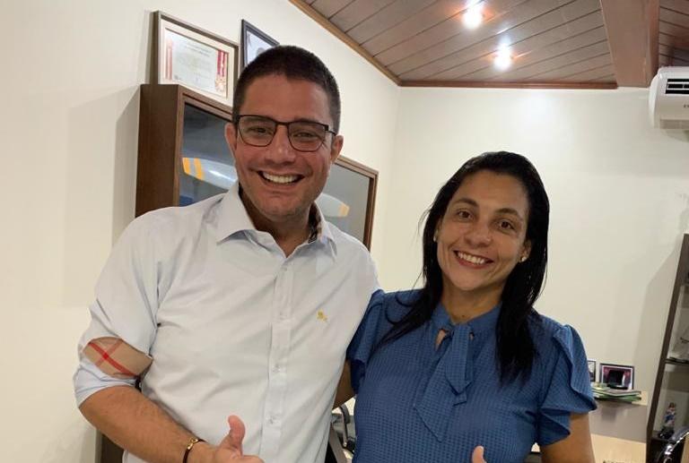 Rosana Gomes e governador Gladson Cameli