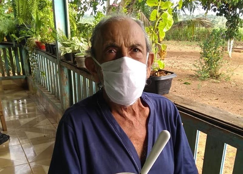 """""""Seu João"""" está recuperado da Covid-19 mesmo com apenas 35% dos pulmões funcionando/Foto: Arquivo pessoal"""