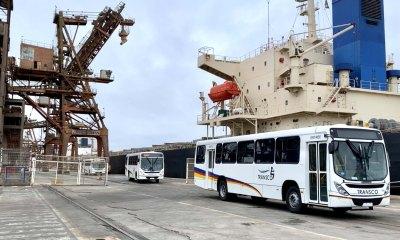 Porto de Paranaguá faz o maior embarque de ônibus de sua história