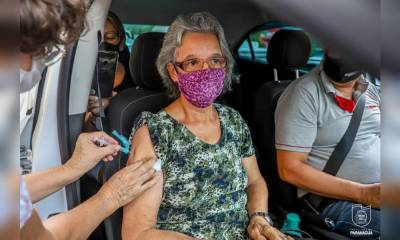 Paranaguá realiza vacinação contra a Covid-19 para pessoas acima dos 75 anos