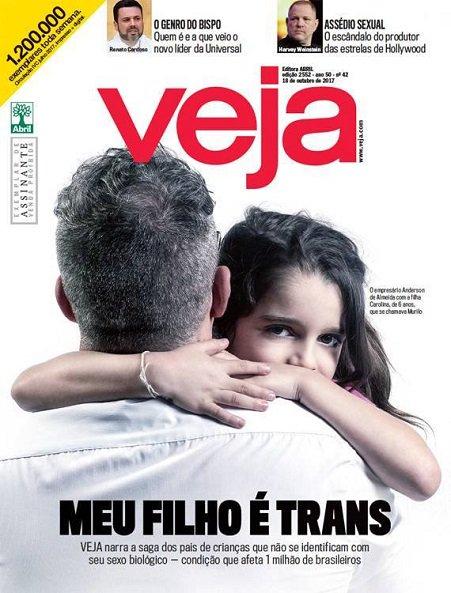 Capa da Veja sobre ideologia de gênero na infância - outubro 2017
