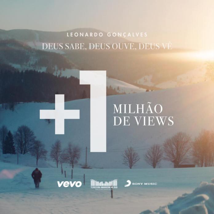 Leonardo Gonçalves comemora 1 milhão de views do clipe