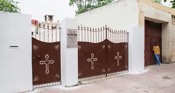 Igreja fechada em Ruanda