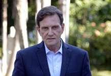 Marcelo Crivella, bispo licenciado da Igreja Universal e atual prefeito do Rio de Janeiro (julho 2018)