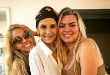 Ludmila Ferber recebe a vista da cantora Joelma (julho 2018)