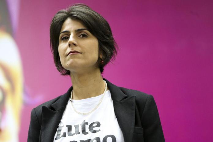Manuela D'Ávila (PCdoB), candidata a vice-presidente na chapa de Fernando Haddad (PT), nas eleições de 2018