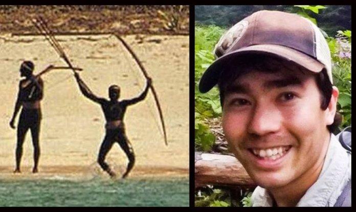 Missionário americano John Allen Chau foi recebido a flechadas pela tribo, mas continuou andando e depois teve uma corda amarrada em seu pescoço e foi arrastado pela praia. (Foto: PageSeven)