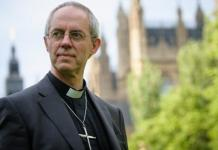 Justin Welby, líder da Igreja Anglicana
