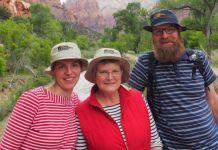 Fanny, Lida e Remmo Beerepoot em foto do site religioso Caleb's Journal.