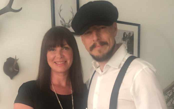Lee Harris e sua esposa Lizanne