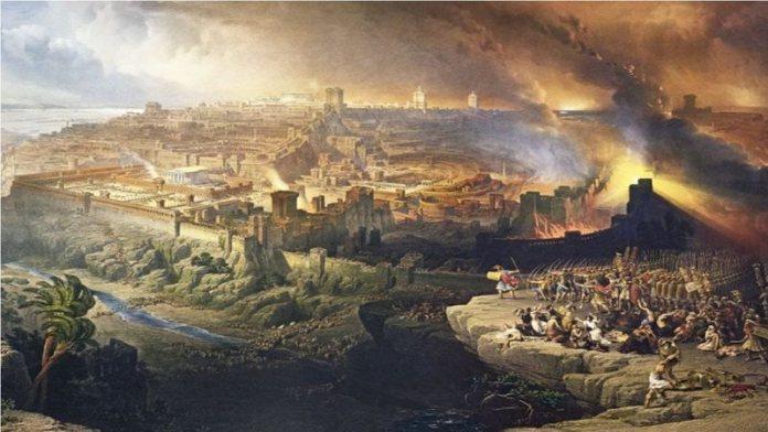 Ilustração do cerco dos babilônios em Jerusalém (Crédito: Wikimedia Commons)