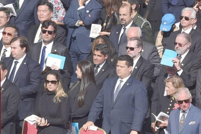 Autoridades brasileiras durante a cerimônia de canonização da Irmã Dulce, no Vaticano - Walmir Cirne - 14.out.19/Futura Press/Folhapress