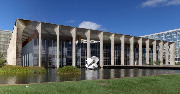 Fachada do Itamaraty, sede do Ministério das Relações Exteriores, em Brasília (Divulgação)