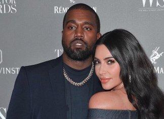 Kim Kardashian e Kenye West. (Foto: Reprodução/Instagram)