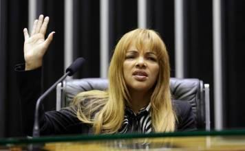 Deputada Federal Flordelis, na Câmara dos Deputados, em Brasília