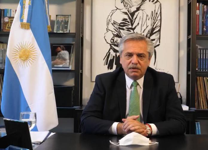 Presidente da Argentina Alberto Fernández (Reprodução/Twitter)