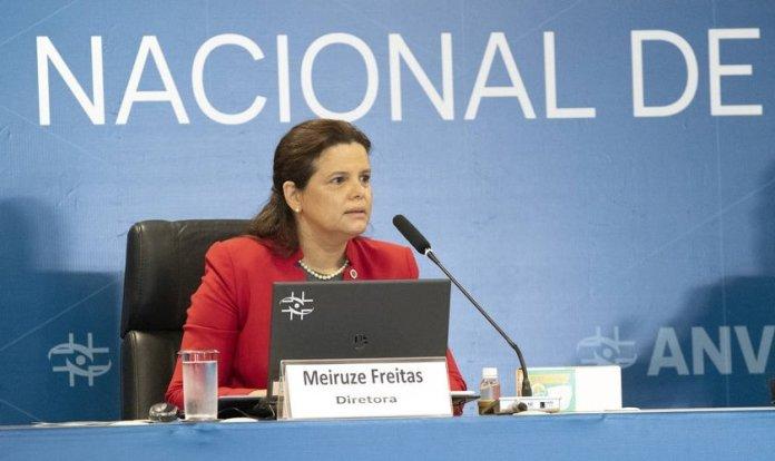 Diretora Meiruze Sousa Freitas em reunião da Anvisa sobre liberação de uso emergencial de vacinas contra a Covid-19. (Foto: Divulgação/Anvisa)