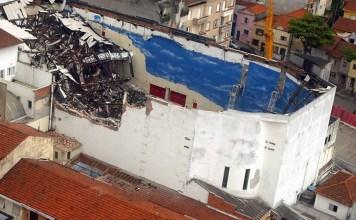 Teto da Igreja Renascer em Cristo que desabou em janeiro de 2009