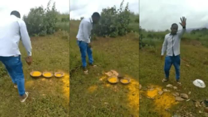 Pastor quebra peças religiosas ligadas à religião de matriz africana